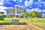精華町役場庁舎の風景
