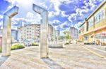祝園(ほうその)駅前西側の歩道の風景2